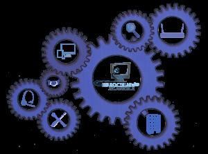 Engrenage contenant les logos des compétences professionnelle