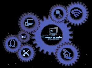 Engrenage contenant les logos des compétences pour les particuliers